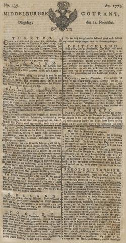 Middelburgsche Courant 1775-11-21