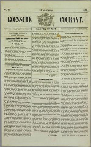 Goessche Courant 1859-04-28