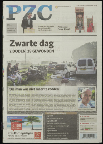 Provinciale Zeeuwse Courant 2014-09-17