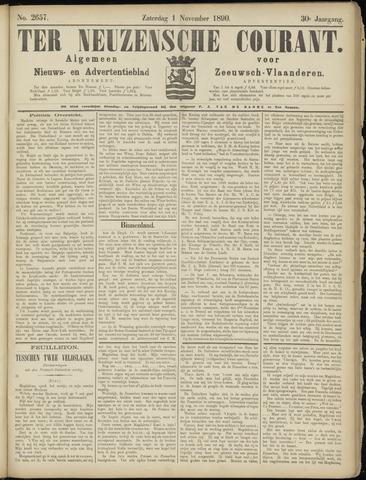 Ter Neuzensche Courant. Algemeen Nieuws- en Advertentieblad voor Zeeuwsch-Vlaanderen / Neuzensche Courant ... (idem) / (Algemeen) nieuws en advertentieblad voor Zeeuwsch-Vlaanderen 1890-11-01
