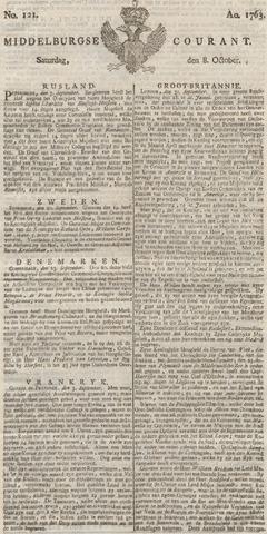 Middelburgsche Courant 1763-10-08