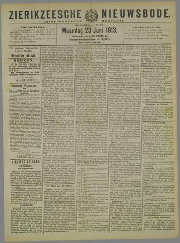 Zierikzeesche Nieuwsbode 1913-06-23