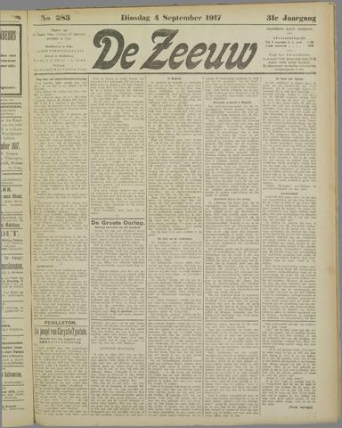 De Zeeuw. Christelijk-historisch nieuwsblad voor Zeeland 1917-09-04