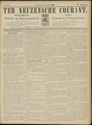 Ter Neuzensche Courant. Algemeen Nieuws- en Advertentieblad voor Zeeuwsch-Vlaanderen / Neuzensche Courant ... (idem) / (Algemeen) nieuws en advertentieblad voor Zeeuwsch-Vlaanderen 1908-07-11