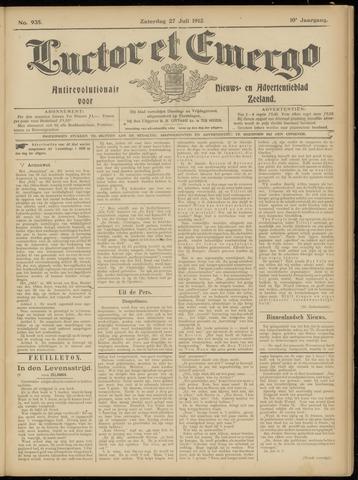 Luctor et Emergo. Antirevolutionair nieuws- en advertentieblad voor Zeeland / Zeeuwsch-Vlaanderen. Orgaan ter verspreiding van de christelijke beginselen in Zeeuwsch-Vlaanderen 1912-07-27