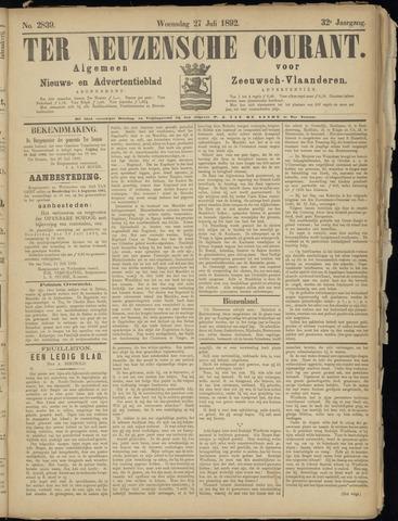 Ter Neuzensche Courant. Algemeen Nieuws- en Advertentieblad voor Zeeuwsch-Vlaanderen / Neuzensche Courant ... (idem) / (Algemeen) nieuws en advertentieblad voor Zeeuwsch-Vlaanderen 1892-07-27