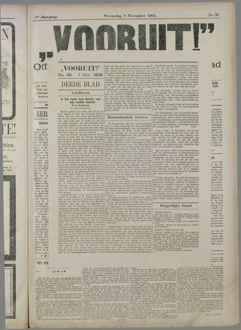 """""""Vooruit!""""Officieel Nieuws- en Advertentieblad voor Overflakkee en Goedereede 1905-11-08"""