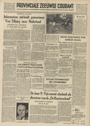 Provinciale Zeeuwse Courant 1956-09-01