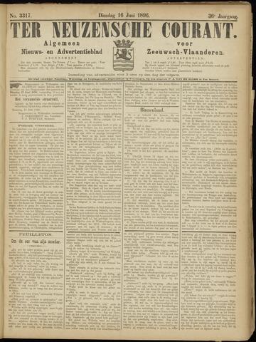 Ter Neuzensche Courant. Algemeen Nieuws- en Advertentieblad voor Zeeuwsch-Vlaanderen / Neuzensche Courant ... (idem) / (Algemeen) nieuws en advertentieblad voor Zeeuwsch-Vlaanderen 1896-06-16