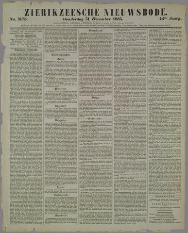 Zierikzeesche Nieuwsbode 1885-12-31