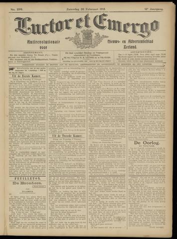 Luctor et Emergo. Antirevolutionair nieuws- en advertentieblad voor Zeeland / Zeeuwsch-Vlaanderen. Orgaan ter verspreiding van de christelijke beginselen in Zeeuwsch-Vlaanderen 1915-02-20