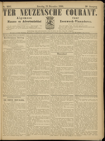 Ter Neuzensche Courant. Algemeen Nieuws- en Advertentieblad voor Zeeuwsch-Vlaanderen / Neuzensche Courant ... (idem) / (Algemeen) nieuws en advertentieblad voor Zeeuwsch-Vlaanderen 1896-12-19