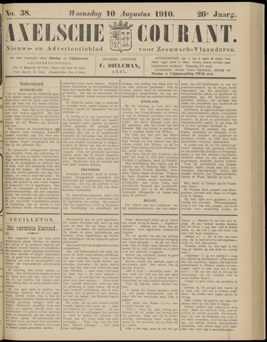 Axelsche Courant 1910-08-10