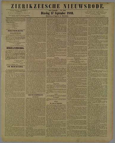 Zierikzeesche Nieuwsbode 1889-09-17