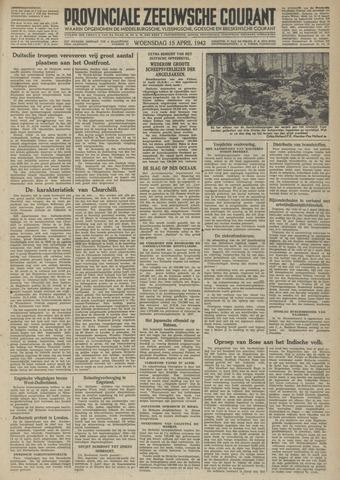 Provinciale Zeeuwse Courant 1942-04-15