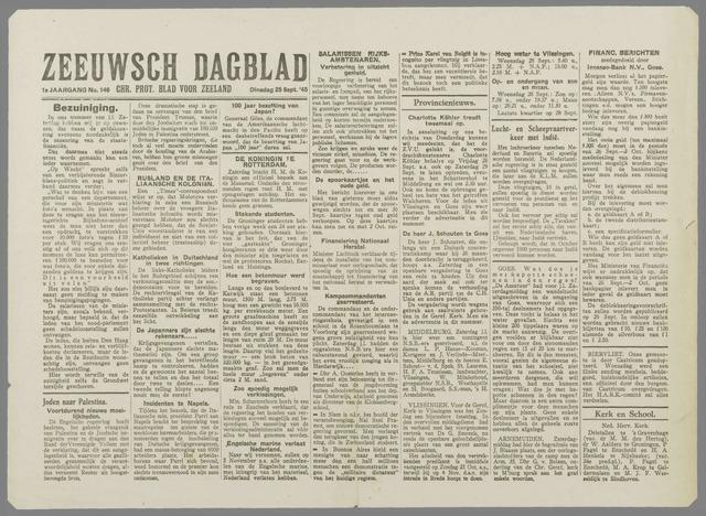 Zeeuwsch Dagblad 1945-09-25