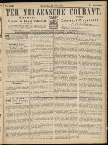 Ter Neuzensche Courant. Algemeen Nieuws- en Advertentieblad voor Zeeuwsch-Vlaanderen / Neuzensche Courant ... (idem) / (Algemeen) nieuws en advertentieblad voor Zeeuwsch-Vlaanderen 1911-07-20
