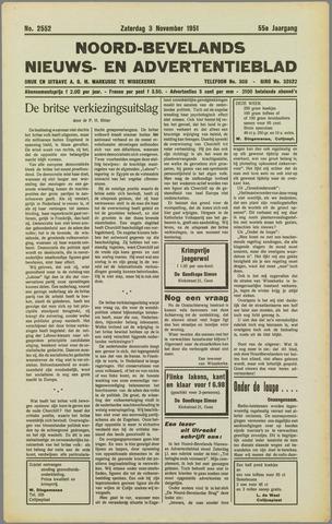 Noord-Bevelands Nieuws- en advertentieblad 1951-11-03