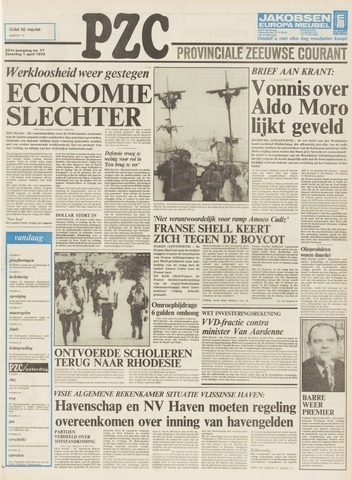 Provinciale Zeeuwse Courant 1978-04-01