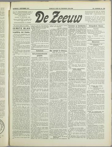 De Zeeuw. Christelijk-historisch nieuwsblad voor Zeeland 1937-09-11