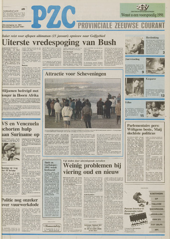 Provinciale Zeeuwse Courant 1991