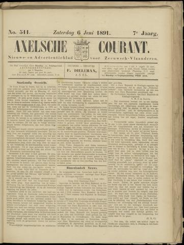 Axelsche Courant 1891-06-06