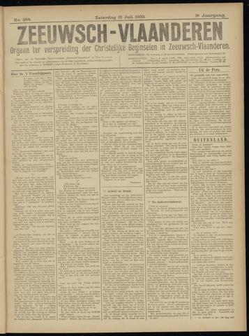 Luctor et Emergo. Antirevolutionair nieuws- en advertentieblad voor Zeeland / Zeeuwsch-Vlaanderen. Orgaan ter verspreiding van de christelijke beginselen in Zeeuwsch-Vlaanderen 1920-07-31