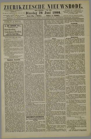 Zierikzeesche Nieuwsbode 1900-06-26