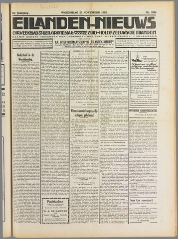 Eilanden-nieuws. Christelijk streekblad op gereformeerde grondslag 1939-11-29