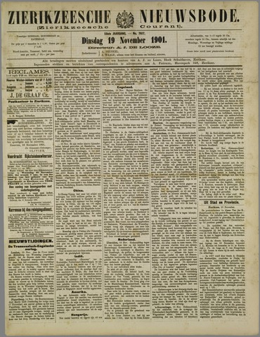 Zierikzeesche Nieuwsbode 1901-11-19