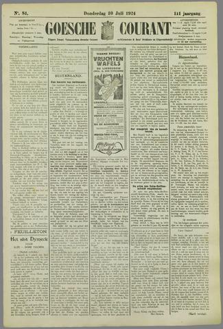 Goessche Courant 1924-07-10
