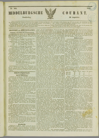 Middelburgsche Courant 1847-08-26