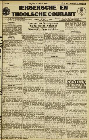 Ierseksche en Thoolsche Courant 1926-04-09