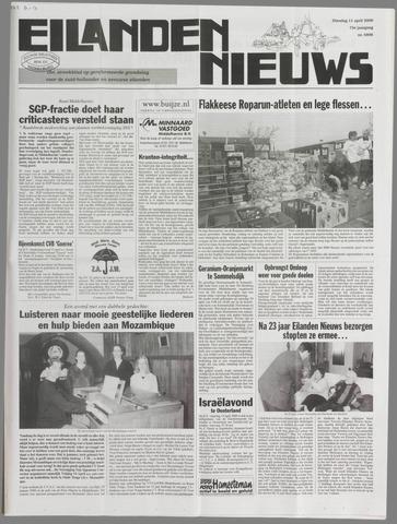 Eilanden-nieuws. Christelijk streekblad op gereformeerde grondslag 2000-04-11