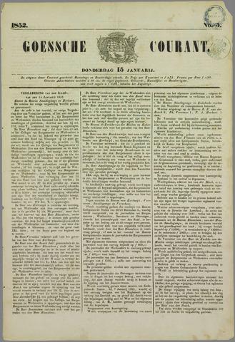 Goessche Courant 1852-01-15