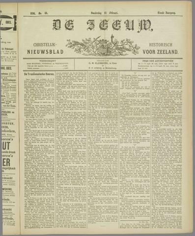 De Zeeuw. Christelijk-historisch nieuwsblad voor Zeeland 1896-02-13