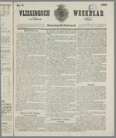 Vlissings Weekblad 1863-02-28