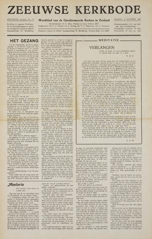 Zeeuwsche kerkbode, weekblad gewijd aan de belangen der gereformeerde kerken/ Zeeuwsch kerkblad 1957-10-04