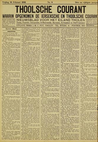 Ierseksche en Thoolsche Courant 1936-02-21