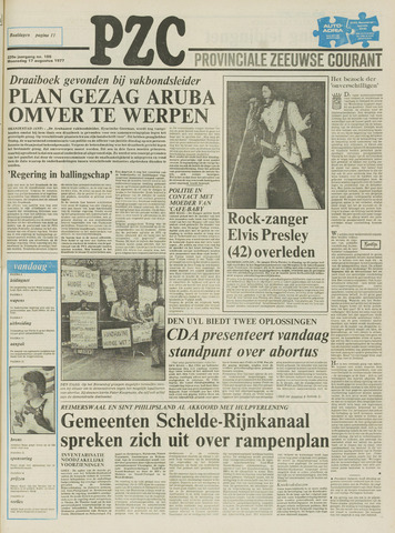 Provinciale Zeeuwse Courant 1977-08-17