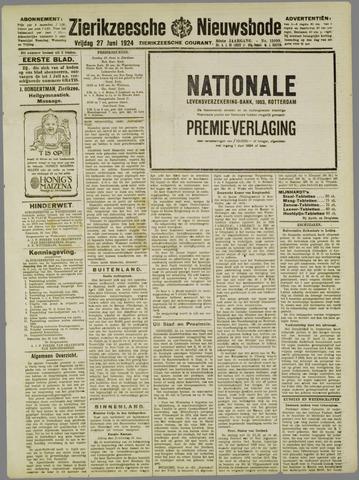 Zierikzeesche Nieuwsbode 1924-06-27