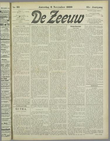 De Zeeuw. Christelijk-historisch nieuwsblad voor Zeeland 1920-11-06
