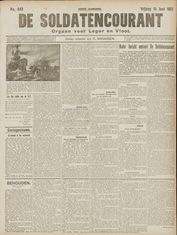 De Soldatencourant. Orgaan voor Leger en Vloot 1917-06-15