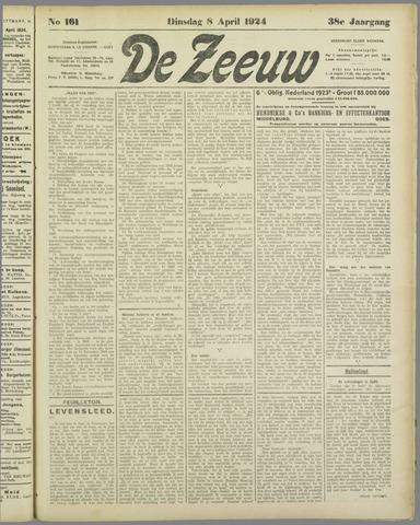 De Zeeuw. Christelijk-historisch nieuwsblad voor Zeeland 1924-04-08