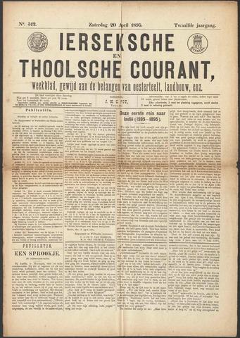 Ierseksche en Thoolsche Courant 1895-04-20