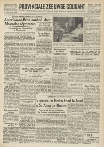 Provinciale Zeeuwse Courant 1952-09-01
