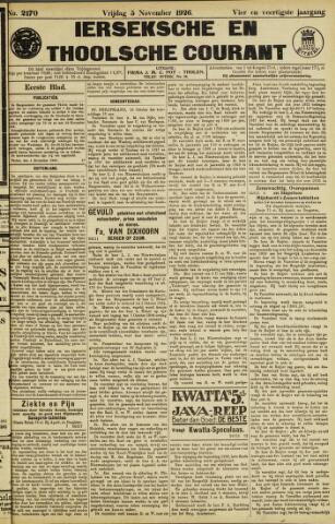 Ierseksche en Thoolsche Courant 1926-11-05