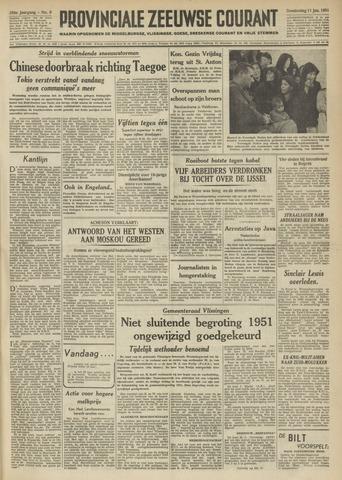 Provinciale Zeeuwse Courant 1951-01-11