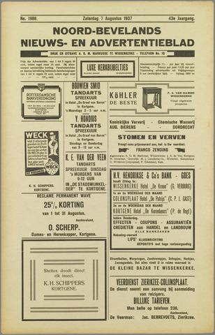 Noord-Bevelands Nieuws- en advertentieblad 1937-08-07