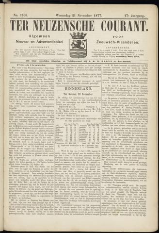 Ter Neuzensche Courant. Algemeen Nieuws- en Advertentieblad voor Zeeuwsch-Vlaanderen / Neuzensche Courant ... (idem) / (Algemeen) nieuws en advertentieblad voor Zeeuwsch-Vlaanderen 1877-11-21